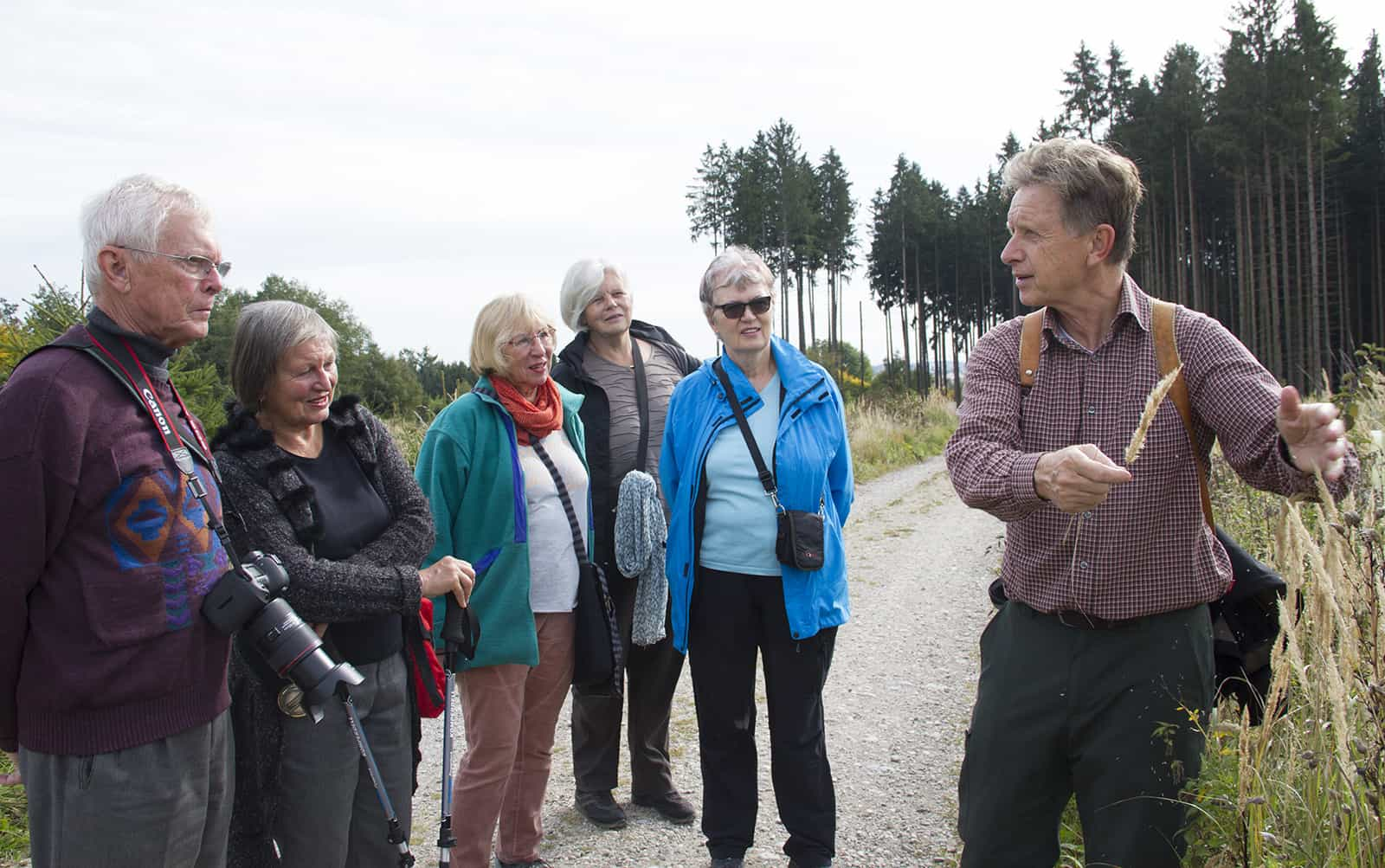 Waldspaziergang am Parsberg in Germering mit Förster Hans-Jürgen Gulder