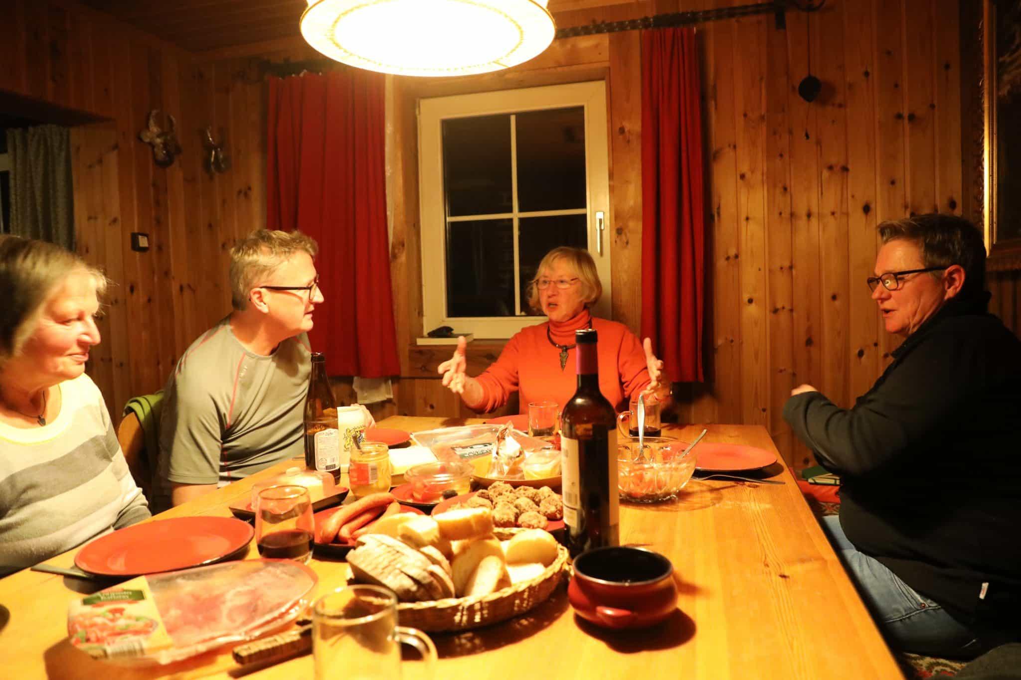 In der Hütte im Stubachtal